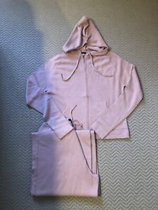 Pale Pink Cashmere Silk tracksuit/ Lounge Wear Size M . Brand New