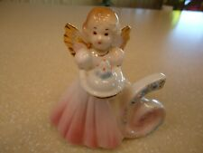 "Vintage Josef Originals Birthday Angel Girl with Pink Dress 6 Years Old 4"""