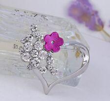 Heart Clear Sparkly Diamante Rhinestone Crystal Wedding/party Brooch