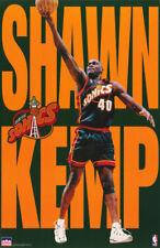 POSTER: NBA BASKETBALL: SHAWN KEMP - SEATTLE SUPERSONICS - FREE SHIP RC22 F