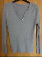 M & S Silver Grey Ribbed Jumper With Stretch BNWT Size 20