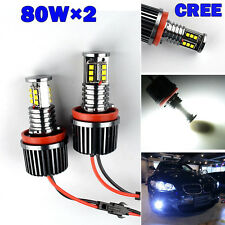 2x 80W H8 CREE SMD LED ANGEL EYES STANDLICHTRINGE MARKER BMW E92 E60 E61 E70 E90