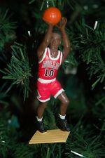 "B.J. Armstrong Chicago Bulls Red Jersey Shooting 5"" Christmas Tree NBA Ornament"