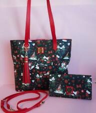 Disney Dooney Bourke Woodland Holiday Christmas Tote Handbag & Crossbody Wallet