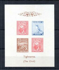 LUNDY: TIGHEARNA MINIATURE SHEET (IMPERFORATE) MOUNTED MINT