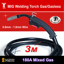MIG Welder Welding Torch Gun Mid Steel Aluminium Stainless Built in gas valve