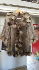 manteau fourrure Lapin Tricoté