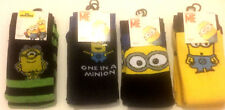 men's fun novelty despicable me minion character socks pack of 3 size 6-11