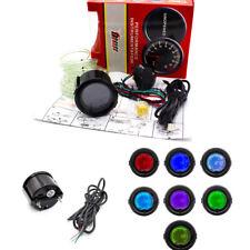 "Colorful 2"" 52mm LED Light Turbo Boost Gauge Vacuum Car Digital Meter Psi inHG"