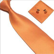 Plain Tie cufflink and hanky hankerchief set stylish fashion mens gift party