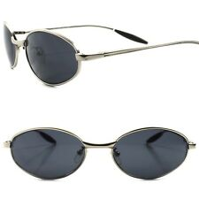 Slick Design High Quality Sporty Stylish Elegant Hot Mens Silver Oval Sunglasses