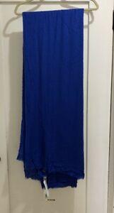 NWT Faliero Sarti New Alexander Cashmere Blend Scarf/ Wrap Bright Blue