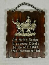 German Wooded Plaque Art - Plastic Diecast Art - Made In West Germany