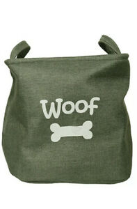 Rosewood Forest Canvas Bag   Pet Dog Toy Carrier   Basket Storage Box 33x27x20cm