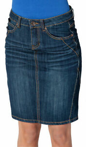 Womens Denim indigo Midi Skirt UK size 8 (Skirt91)