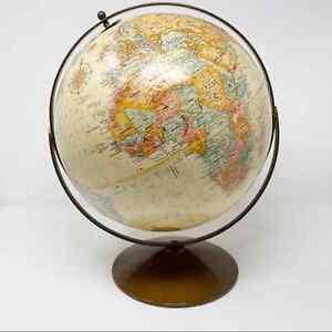 Replogle 12 Inch Diameter Globe World Classic Series Brown Tanned Bronze Base
