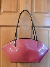 "Authentic BEIJO Medium Hot Pink Patent Leather ""Over The Moon"" Shoulder Handbag~"