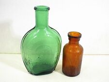 VINTAGE BROWN & GREEN BOTTLES LYSOL BLOOMFIELD NJ & BEN FRANKLIN TAIWAN