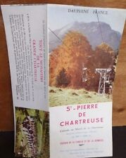 Vtg St Pierre de Chartreuse Brochure Panoramic Photo Mountains North of Grenoble