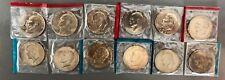 1973-1978 P D Eisenhower BU Ike Dollars US Mint Cello Run 12 Coin Set SHIPS FREE