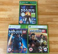 Mass Effect Bundle 1 2 3 Xbox 360 Video Games Manual PAL