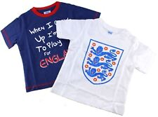 ENGLAND 2 Pk Baby Football T SHIRT Top Vest THREE LIONS Fan Supporter 6-18 Mths