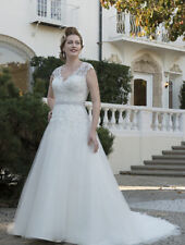 New Lace applique Wedding Dress Formal Ball Gowns With Belt Custom Made Plus SZ