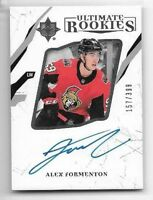 2017-18 UD Upper Deck Ultimate Collection ALEX FORMENTON Auto #/399 Rookie RC 72