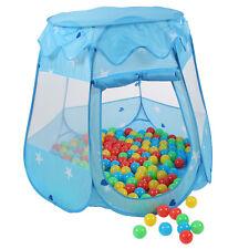 KIDUKU® Kinderzelt Bällebad Babyzelt Spielhaus Spielzelt +100 Bälle +Tasche Blau