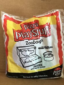 Pizza Hut Kids Toy, Pizza Play Stuff ZooDough, Jagger With Wacky Dough Toy