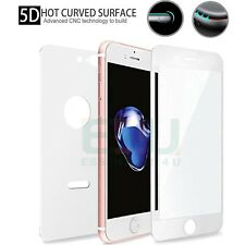 Front + Back White 5D Tempered Glass Screen Protector For Apple iPhone 8