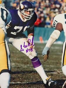 Steve Riley Minnesota Vikings NFL Autographed Color 8x10 (#1 RARE) W/COA