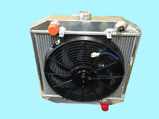 "FORD TALL ESCORT, 55MM CORE ALUMINIUM RACE RADIATOR +/- 14"" INCH FAN & SWITCH"