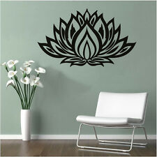 LOTUS Quote Vinyl Wall Sticker Flower Home Room Decor Wall Decal Mural