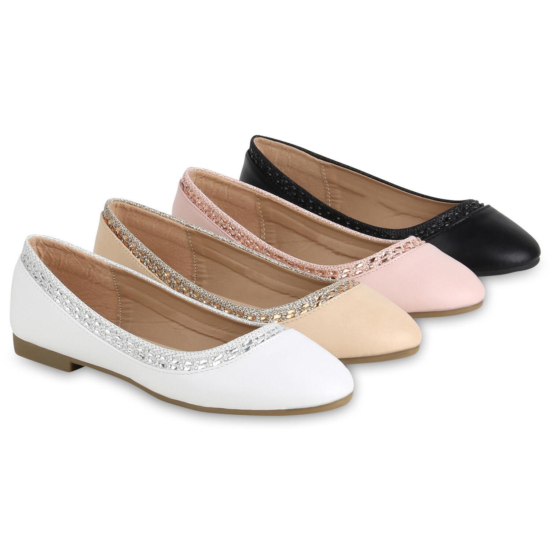 Klassische Damen Ballerinas Lack Slippers Slippers Lack Glitzer Slip On  Zapatos  822868 Trendy 5a463a