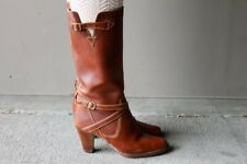 Vintage 80's Brown Leather Boots BOHO CHIC (Size 6 1/2 B) Regency
