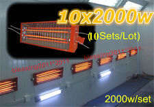 10 Sets 2KW Spray/Baking booth Infrared Paint Curing Lamp Heating Light Heater