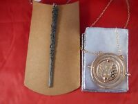 HERNIONE WAND NECKLACE  plus Time Turner  Harry Potter Pendant necklace