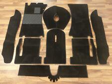 Kompl. Teppichsatz für Alfa Romeo Spider Duetto 66-69 Velour schwarz