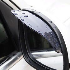 Car Rear View Wing Mirrors Black Sun Visor Shield Rain Board Eyebrow Guard 2Pcs