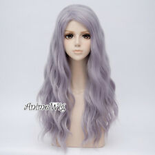 Women Lollita Gray Light Purple Long Curly Fashion Cosplay Fancy 65CM Party Wig