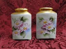 "O&EG Floral w/ Gold Tops: Salt & Pepper Shaker Set, 2 7/8"" Tall"