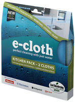 e-cloth Kitchen and Polishing Cleaning Cloth Pack - 2 Cloths