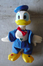 "Vintage 1970s KTC Vinyl and Cloth Donald Duck Character Doll 13"" Tall"