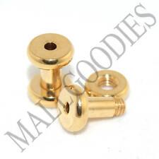 1483 Screw on/fit Steel Anodized Gold Tunnels Earlets Plugs 14 Gauge 14G 1.6mm