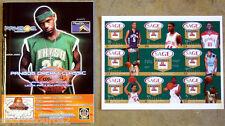 Lebron James Pre Rookie Pangos 2003 Program & Sage Un-cut Card Sheet RC SSp SP !