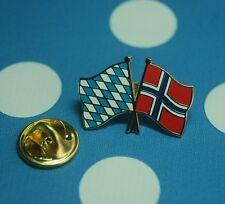 Freundschaftspin Bayern Norwegen Pin Button Badge Anstecknadel Sticker