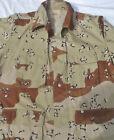 Vintage Mens US Military Issue Shirt/Jacket 6 color Desert Camo choc chip-2 size
