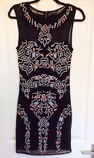 New Miss Selfridge Premium Embellished Dress Size 10 1920s Festival Party Geo