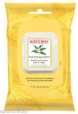 Burt's Bees WHITE TEA Facial Cleansing Towelettes: 30 Face Towels 99% Natural